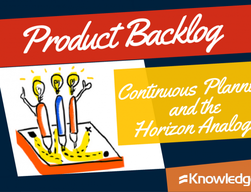 Product Backlog, Continuous Planning and the Horizon Analogy