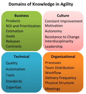 4 domains of agility detailed