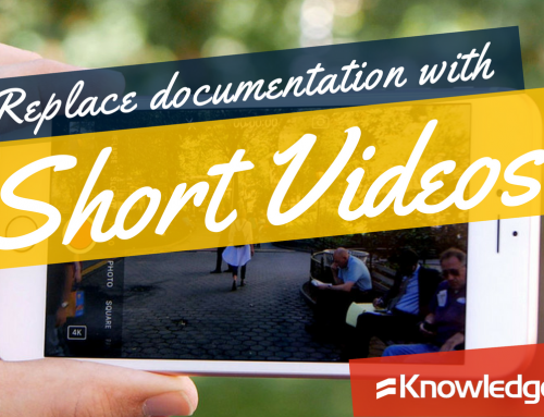 Replace documentation with short videos
