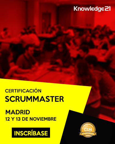 Certificación ScrumMaster Madrid 12 y 13 de noviembre de 2018