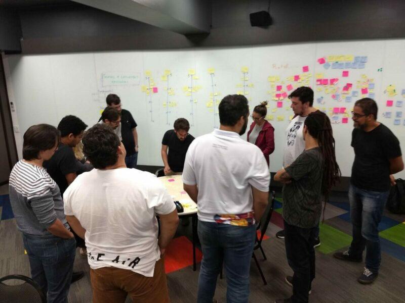 A team planning the next sprint